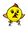 Cartoon chicken vector image