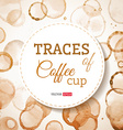 Coffee cup traces background vector image