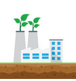 ecology concept industrial factory buildings vector image