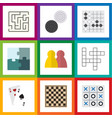 flat icon games set of ace labyrinth people and vector image