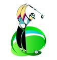 Male Golf Player vector image