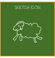 of animal symbol on sheep vector image