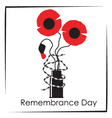 Remembrance day symbol vector image
