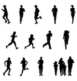 runners vector image