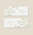 set greeting card with branch of sakura vector image