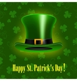 StPatrick Day background with hat vector image