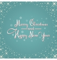Christmas card with stars and snowflakes vector image