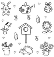 Doodle art of spring collection vector image