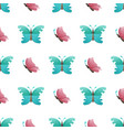 butterflies flat seamless pattern on white vector image