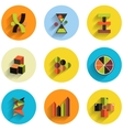 Set of abstract geometric flat icons vector image