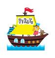 pirate sailing vessel icon vector image