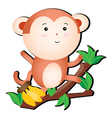 silly monkey vector image