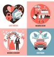 Wedding 2x2 Images Set vector image