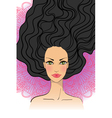 Portrait of beautiful girl with long hair vector image vector image