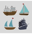 boats styles set icon vector image