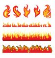 fire design elements vector image