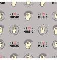 Music seamless pattern Punk Mohawk Rock Grunge vector image
