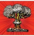 Nuclear explosion radioactive mushroom pop art vector image