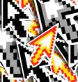 Pixelated Cursors vector image