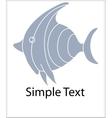 Simple fish logo vector image