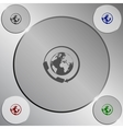 Worldwide customer support call-center Flat icon vector image