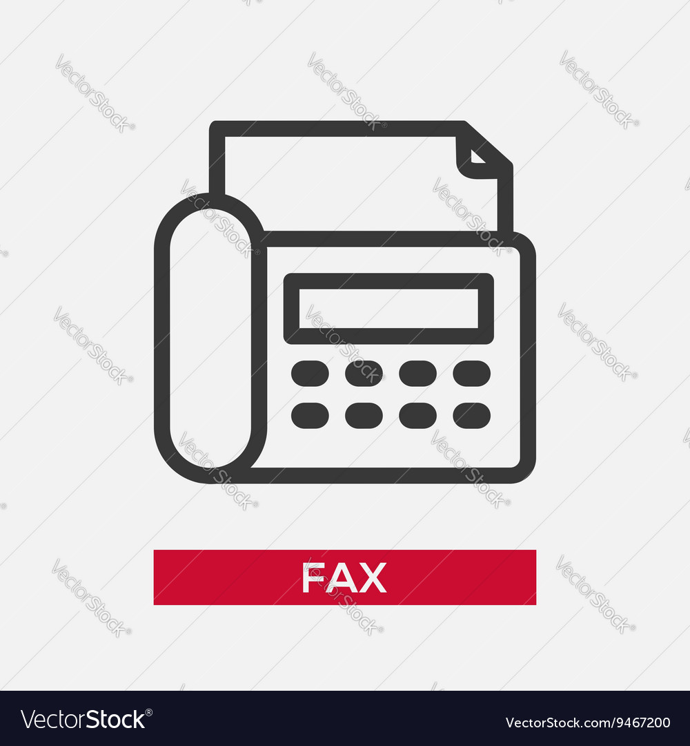 Telephone fax single icon vector
