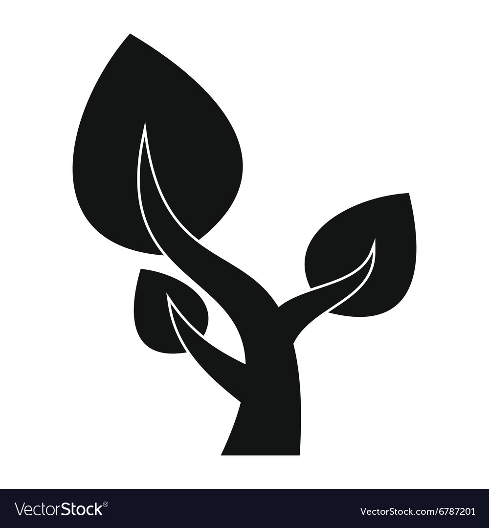 Tree saving plants simple icon vector