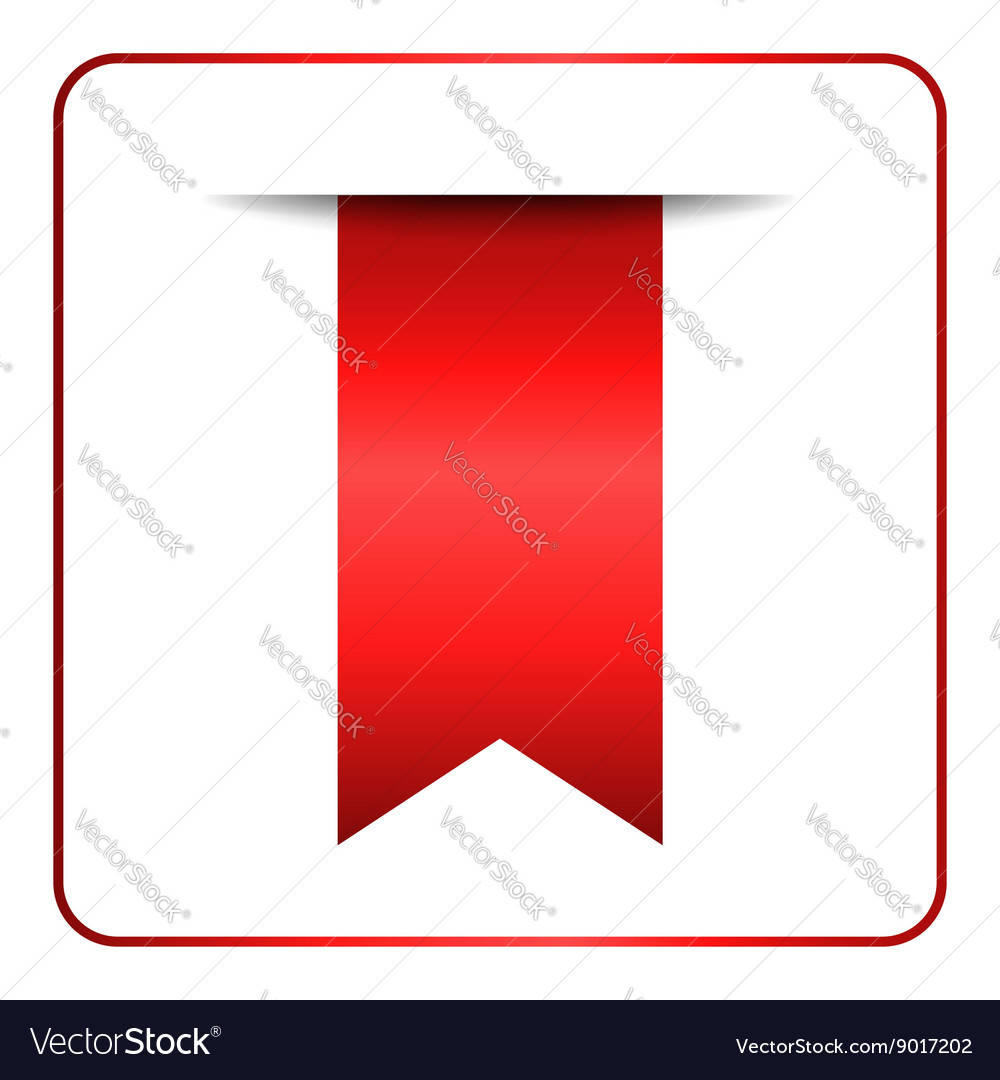 Red bookmark banner 1 vector