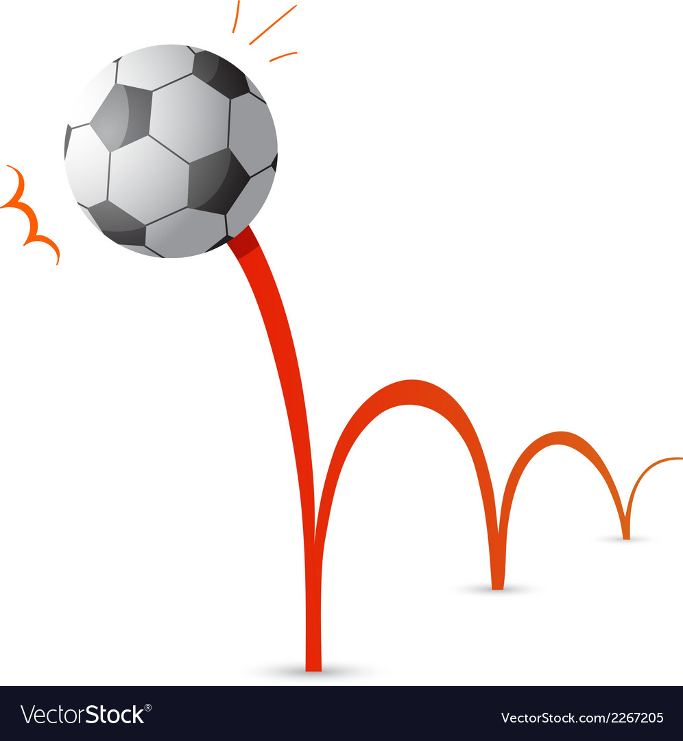 Bouncing soccer ball cartoon vector