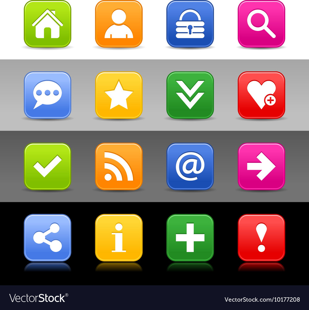 Web icon set with basic sign vector