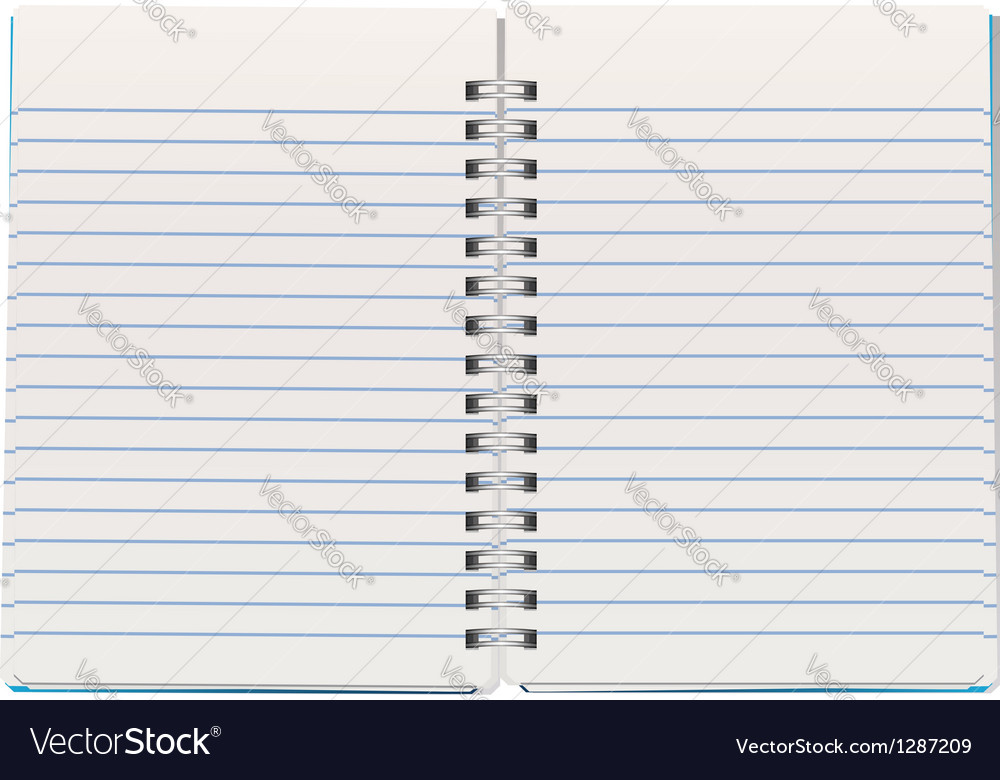 Notepad vector