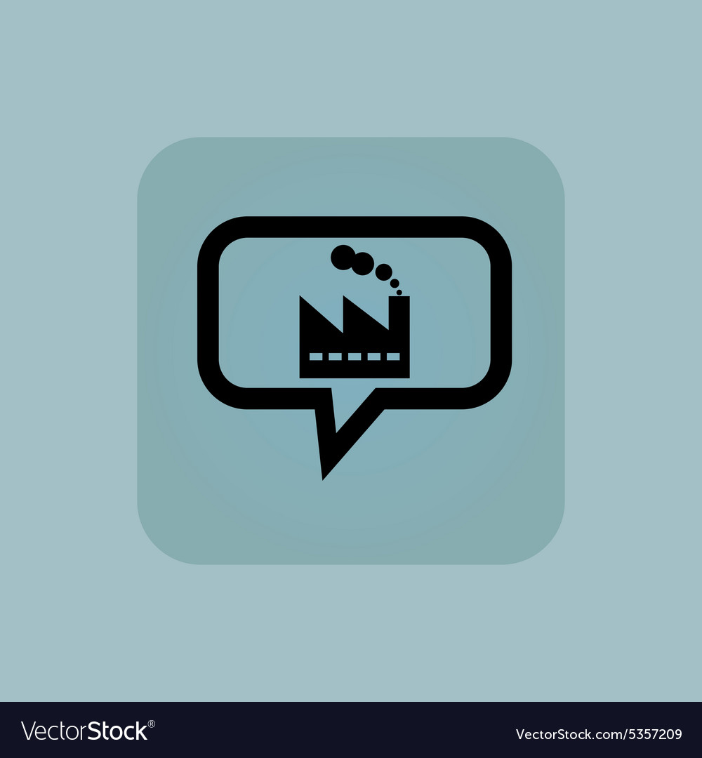 Pale blue factory message icon vector