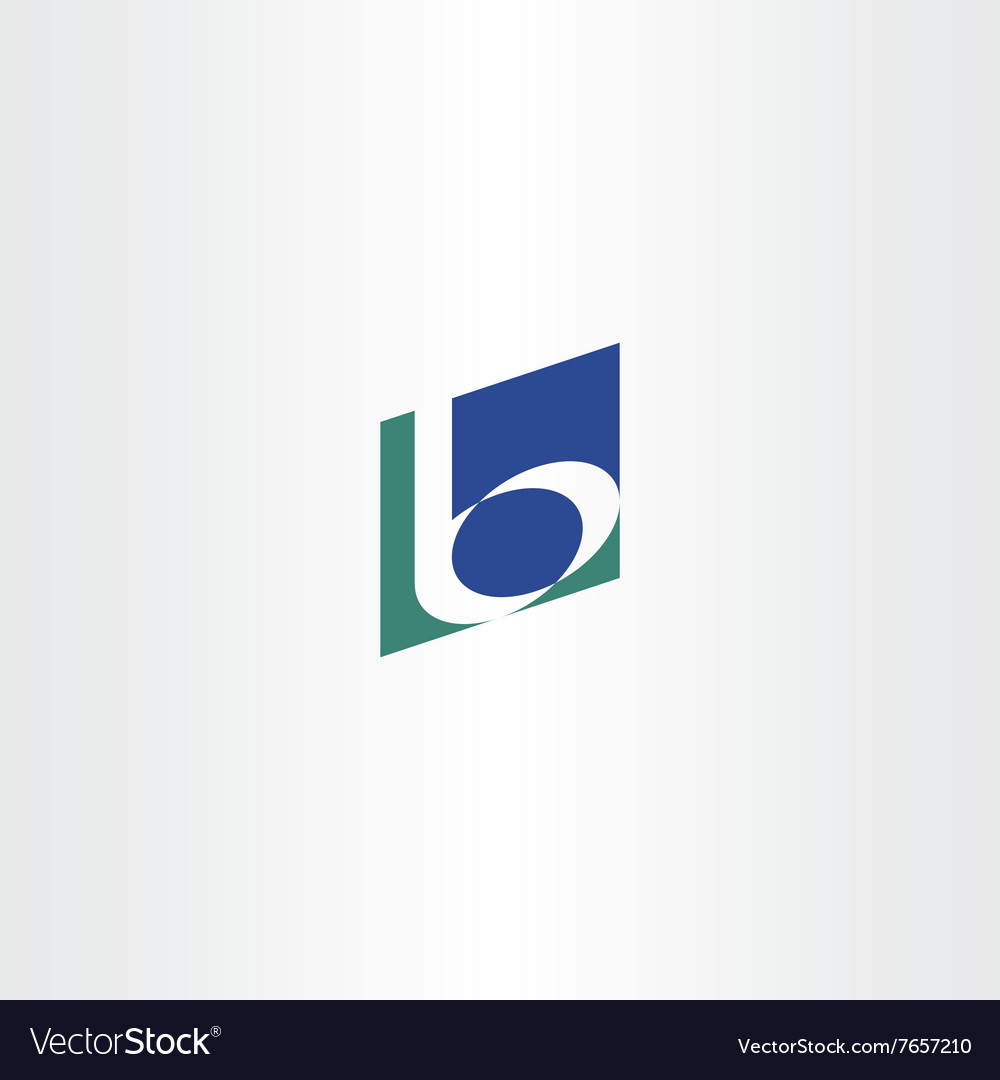 Dark green blue b letter b logo icon vector