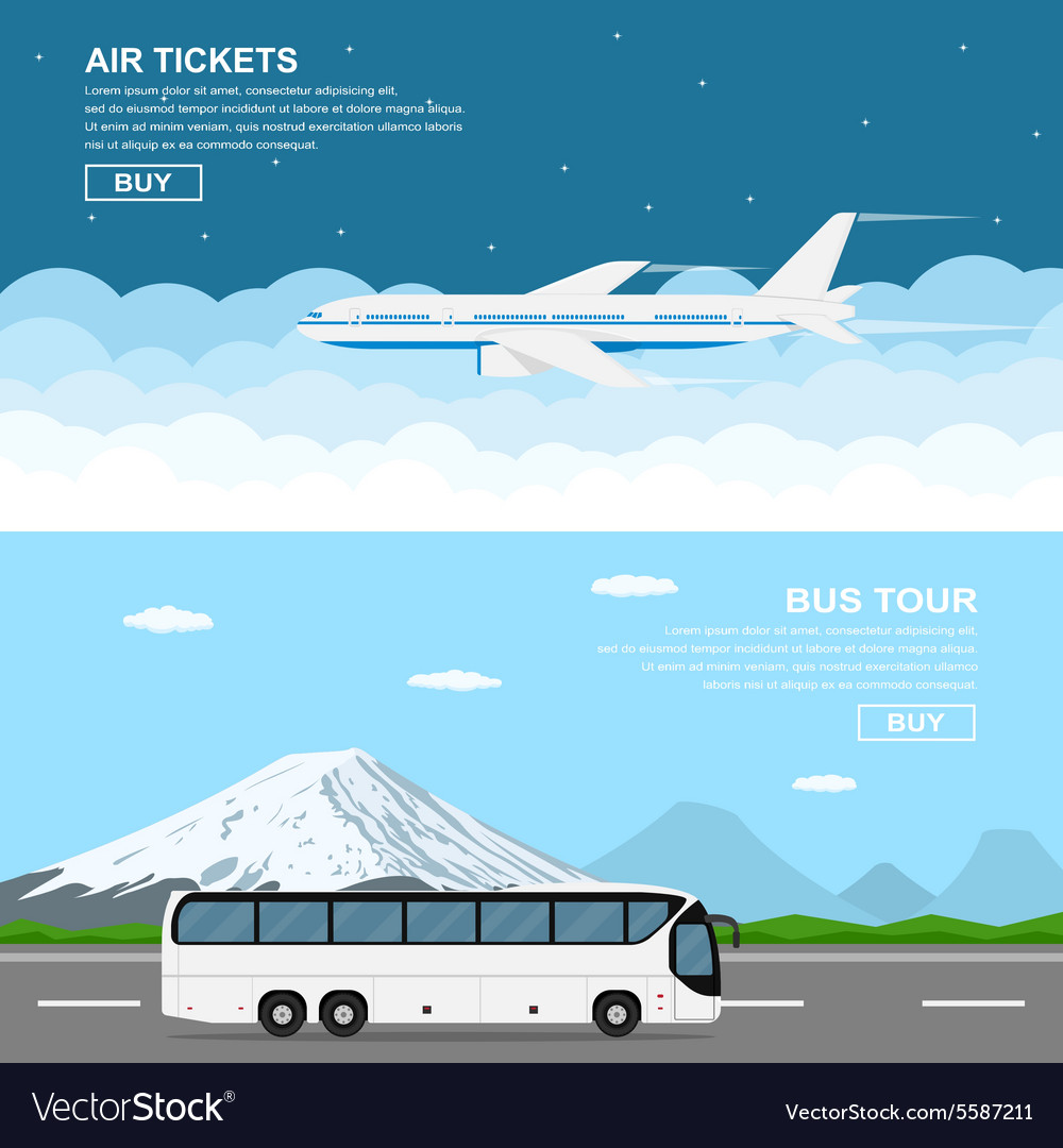 Plain and bus vector