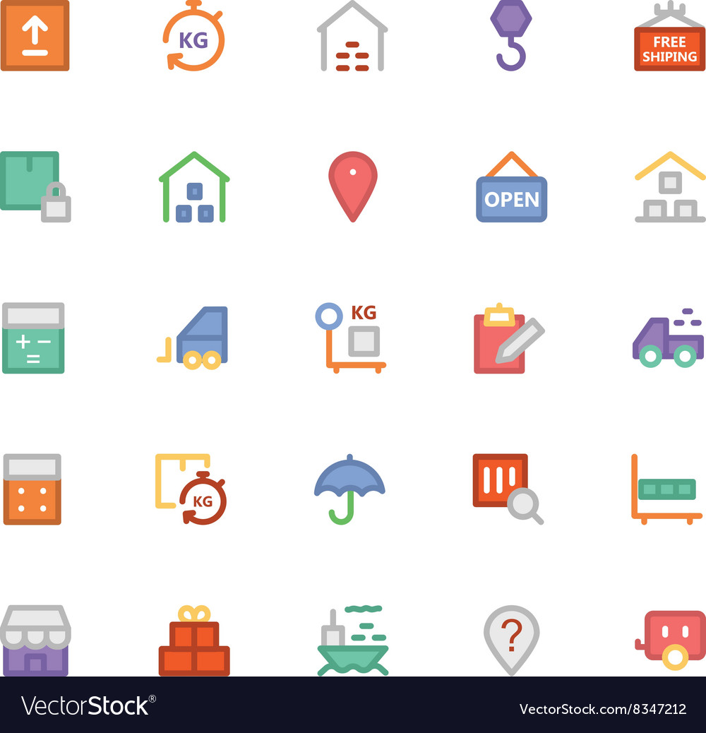 Logistics delivery colored icons 3 vector