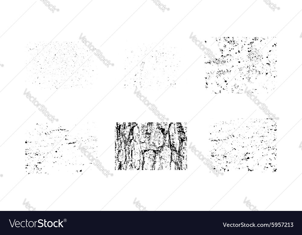 Collection of grunge textures make your own vector