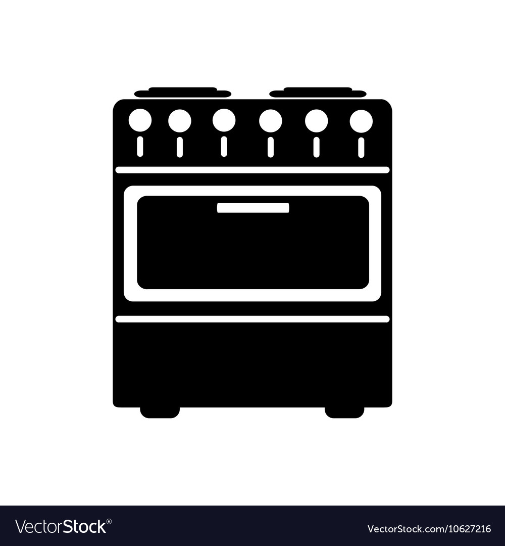Stove icon flat design vector