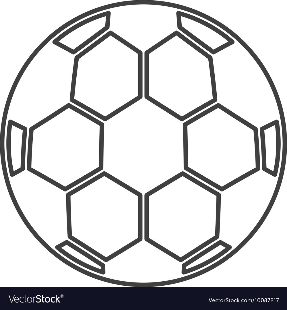 Soccer sport ball equipment icon vector