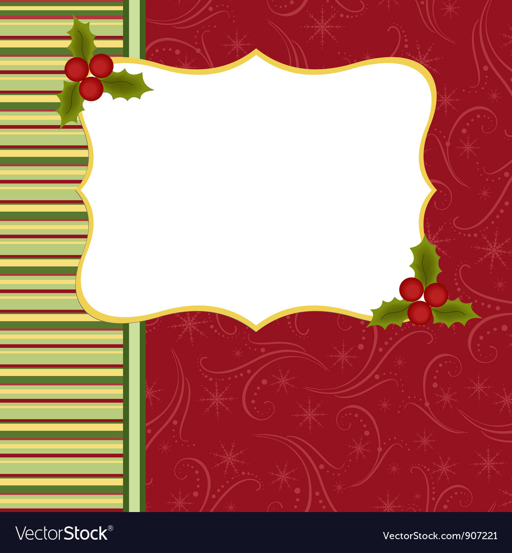 Blank template for christmas greetings card vector