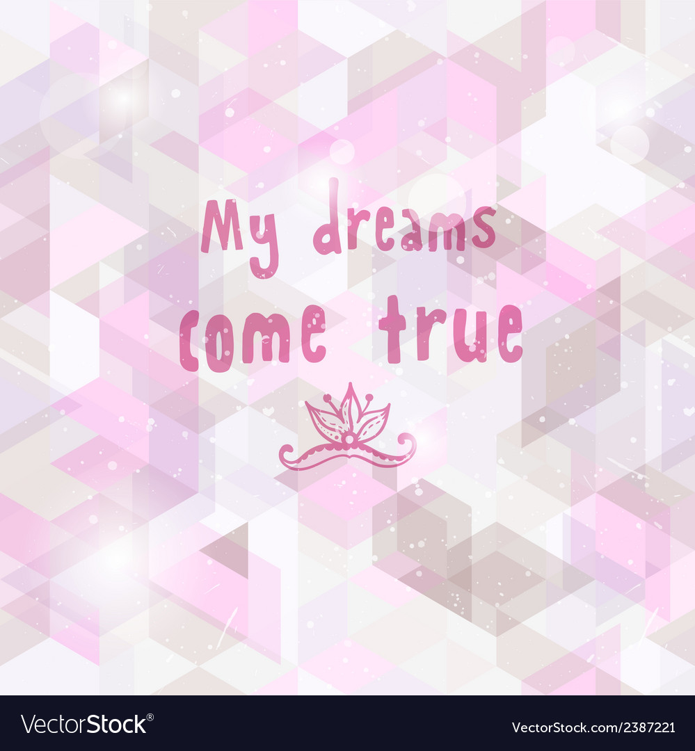 Romantic dream background seamless geometric vector