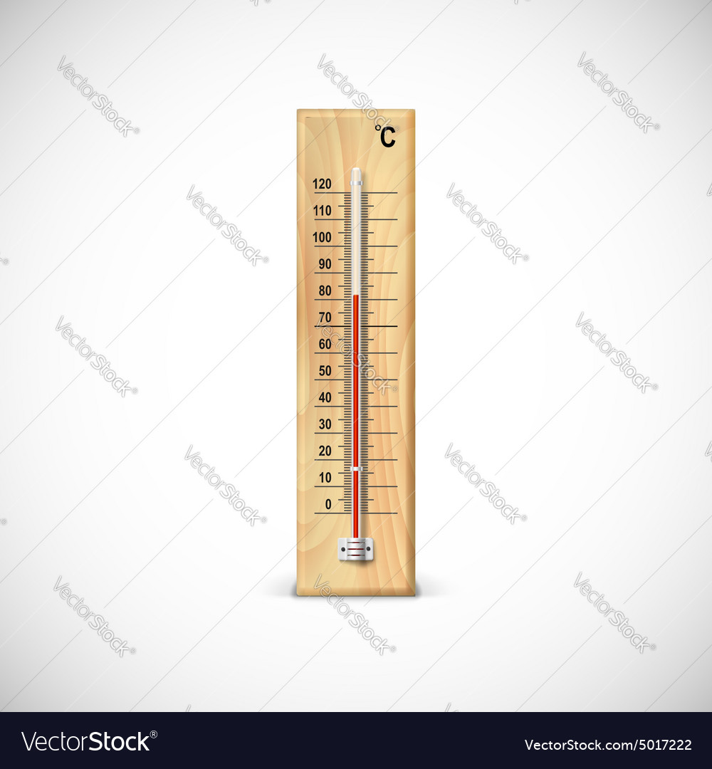 Mometer on wooden base vector