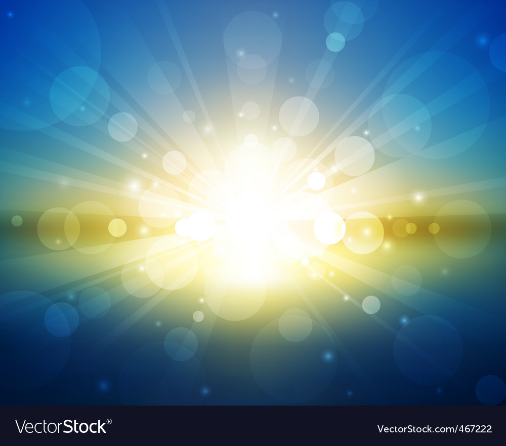 Sunset light vector