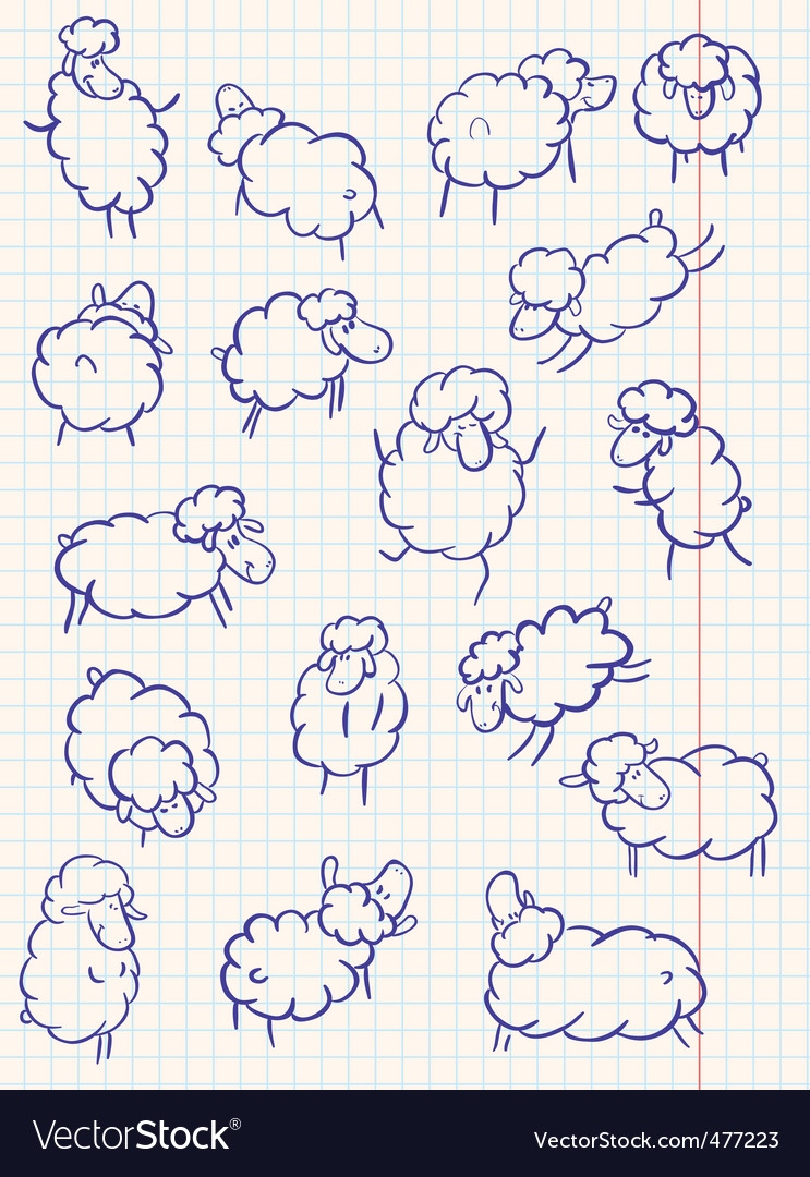 Sheep set vector