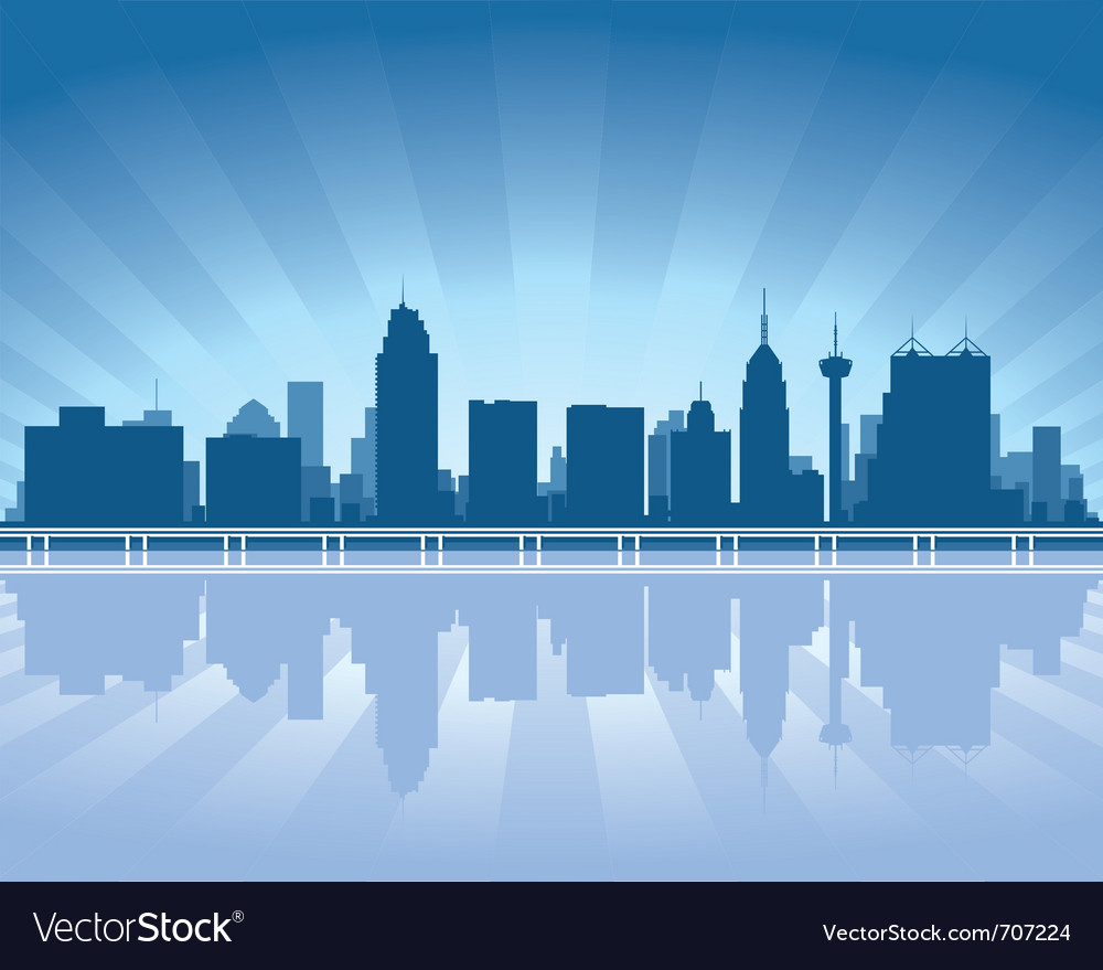 San antonio skyline vector