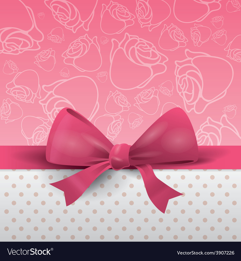 Bow decoration vector