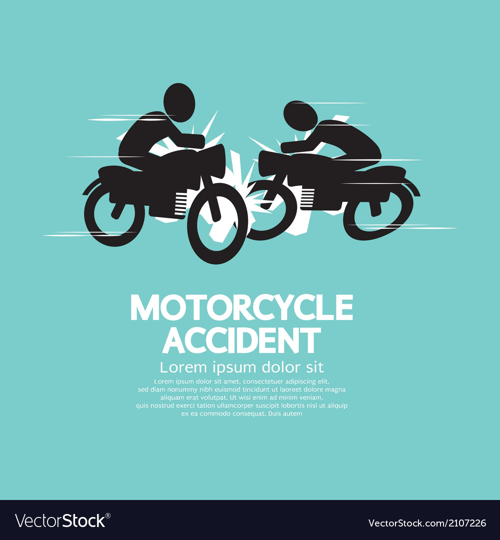 Motorcycle accident vector