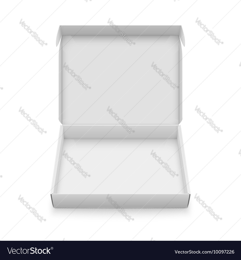 Slim cardboard box template vector