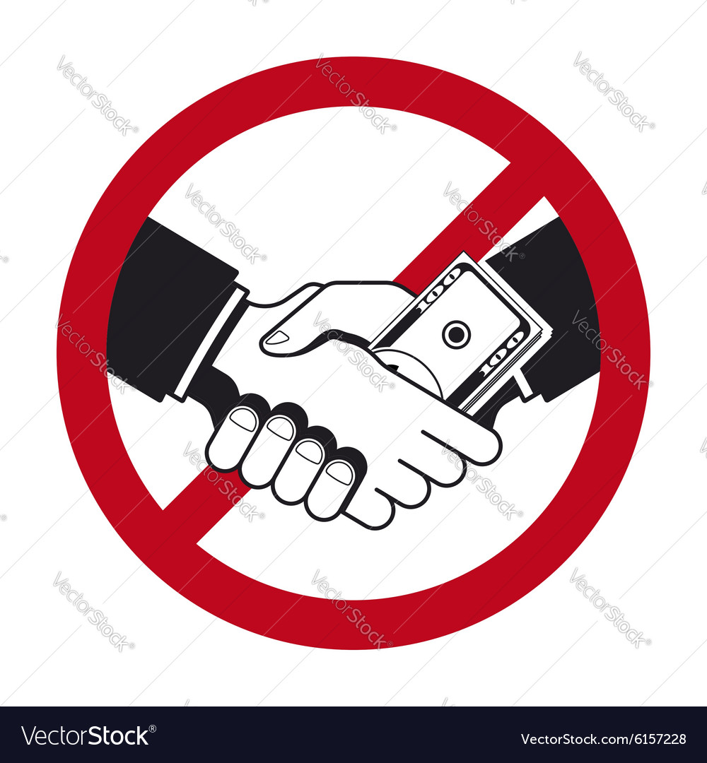 Handshake with bribe over prohibitive sign vector