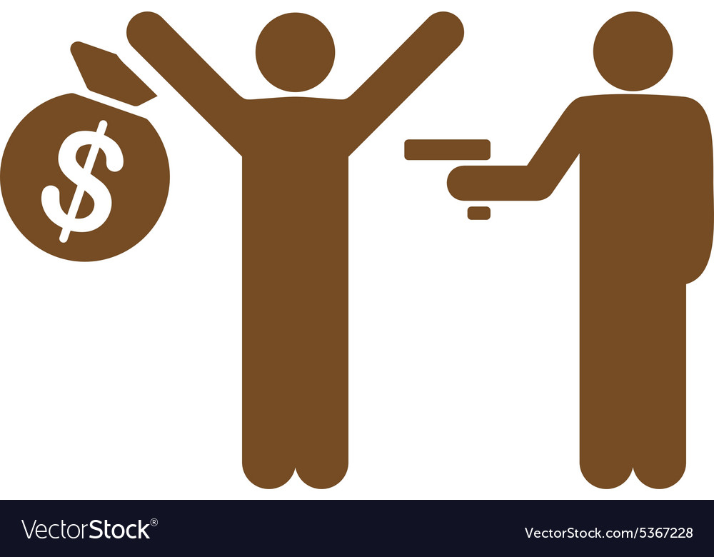 Robbery icon from business bicolor set vector