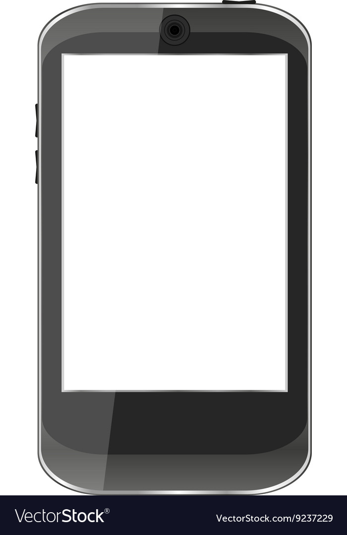 Black smartphone isolated on white background vector